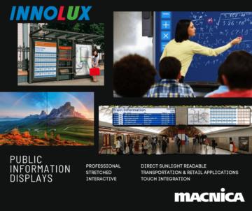 innolux Public Information displays